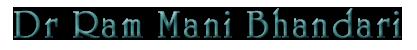 Dr. Ram Mani Bhandari | Ayurveda Specialist